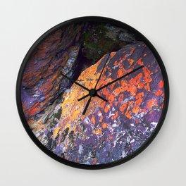 Colorful Moss on Rocks Wall Clock