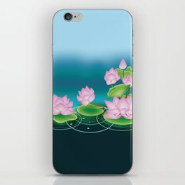 Lotus Flower with Leaves iPhone Skin