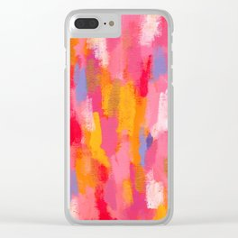 Share Love - Abstract Painting Clear iPhone Case