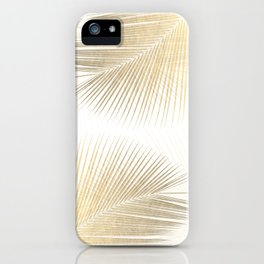 Palm leaf synchronicity - gold iPhone Case