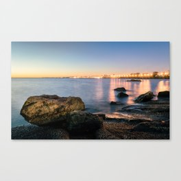 A break from routine. Tranquil spot in 'Montevideo, Uruguay' Canvas Print