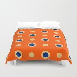 Polka Dot Pattern 241 Orange Blue Duvet Cover