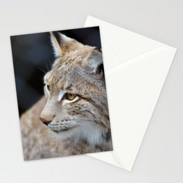 Young lynx close-up portrait Stationery Cards