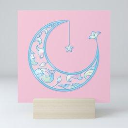 Pastel moon Mini Art Print