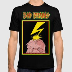 Sad Brains Mens Fitted Tee Black LARGE