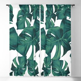 Monstera Leaves Pattern #3 #tropical #decor #art #society6 Blackout Curtain