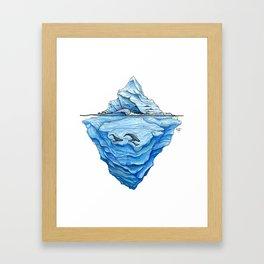 Icebreak Framed Art Print