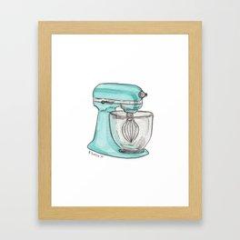Turquoise Mixer Framed Art Print