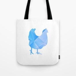 Little Chicken Blue Tote Bag