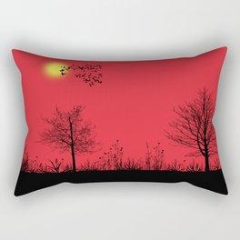 Red panorama Rectangular Pillow