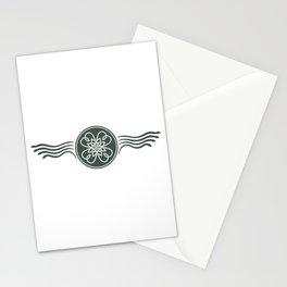 St. Patricks Badge–Dark Green Stationery Cards