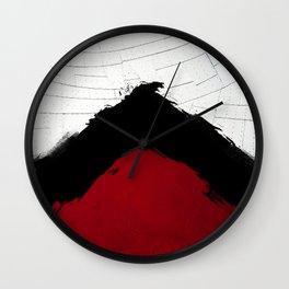 BLOOD RED RIBBON Wall Clock