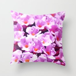 Buddleia Buds Throw Pillow