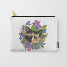 Calico Flower Cat Carry-All Pouch