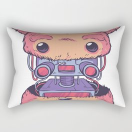 robot teddy bear  Rectangular Pillow