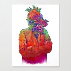 FLOWERS HEAD Canvas Print
