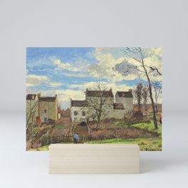 """Camille Pissarro """"Maisons sur un coteau, hiver, environs de Louveciennes"""" Mini Art Print"""