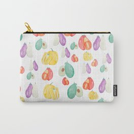 colorful veggie party Carry-All Pouch