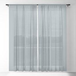 Silver Whispers Dark Pastel Blue Gray Solid Color Pairs Sherwin Williams Debonair SW 9139 Sheer Curtain