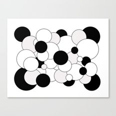 Bubbles - black, gray and white Canvas Print