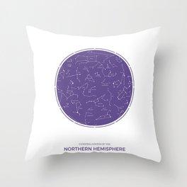 Constellation of the Northern Hemisphere Throw Pillow