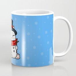 Snowman Cat Coffee Mug