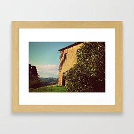 Tuscany Italy Countryside With Villa Framed Art Print