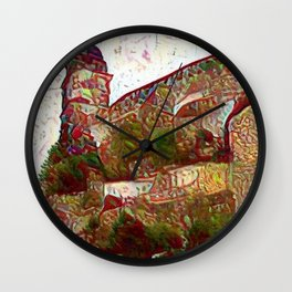 Veste Coburg with Multiplied Blue Hydrants Wall Clock