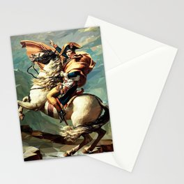 France's Napoleon Crossing the Alps Stationery Cards
