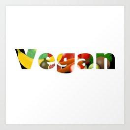 Vegan logo design Art Print