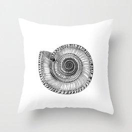 Vintage Seashell Throw Pillow