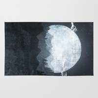 moonrise Area & Throw Rugs featuring Moonrise by Tracie Andrews