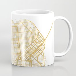 SAN FRANCISCO CALIFORNIA CITY STREET MAP ART Coffee Mug