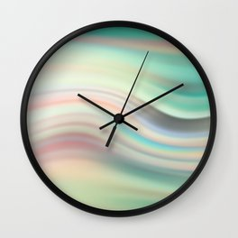 Green mist. Blurred background Wall Clock