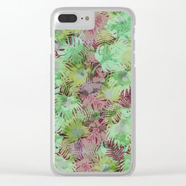 Seamless Pattern of Tropical Leaves II Clear iPhone Case