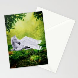 Pegasus By The Stream Stationery Cards