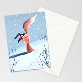 Snow Diving Stationery Cards