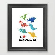 I love dinosaurs Framed Art Print