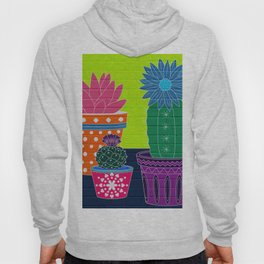 Fun With Coloring Cactus on Brick Hoody