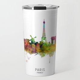 Paris France Skyline Travel Mug