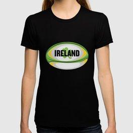 Ireland Rugby product - Irish Flag Rugby Football print T-shirt