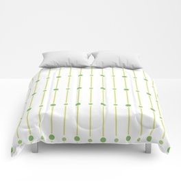 geometric pattern with green circles Comforters