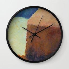 Artist's Study of Impressionist Monet's Haystacks Wall Clock