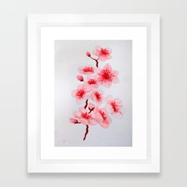 Sakura Blossoms Framed Art Print