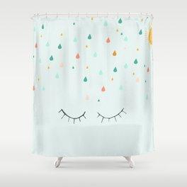 Don't mind the rain Shower Curtain