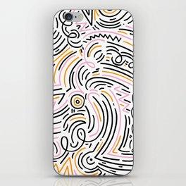 squiggle wiggles iPhone Skin