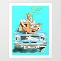 hippie Art Prints featuring Hippie by Ecsentrik
