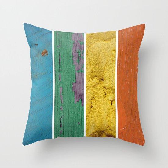 texture rainbow Throw Pillow