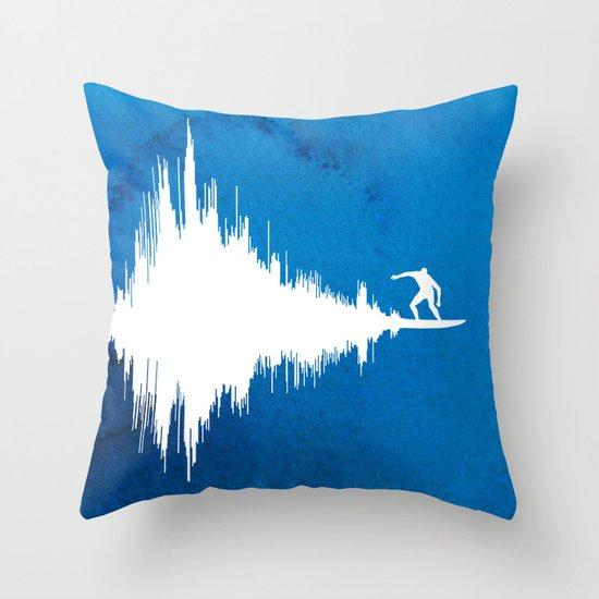 Soundwave Throw Pillow
