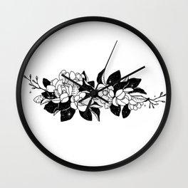 Magnolia Bouquet Wall Clock
